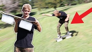 Download Ice Boarding in a Golf Course! Video