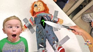 Download Cutting Chucky Open at 3AM! What's Inside of a Chucky Doll? Video