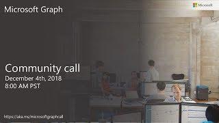 Download Microsoft Graph community call-December 2018 Video