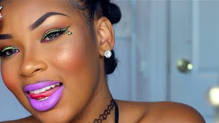 Download KODAK PINK | Green Slime Liner & Purple Lips Video