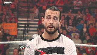 Download Raw - CM Punk crashes Alberto Del Rio's victory speech Video