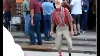 Download ORIGINAL Cool old man dancing, Granpa Shufflin'. Exclusive! Video