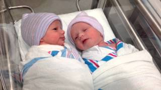 Download Newborn twins talking to each other Video