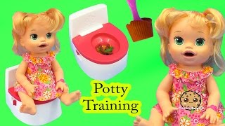 Download Potty Training Baby Alive Super Snacks Snackin' Sara Poops + Feed Doh Food Doll - Toy Play Video Video