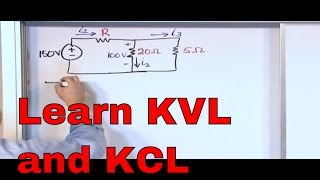 Download Kirchhoff's Laws in Circuit Analysis - KVL and KCL Examples - Kirchhoff's Voltage Law & Current Law Video