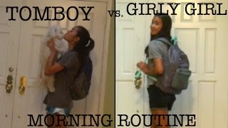 Download TOMBOY VS GIRLY GIRL - MORNING ROUTINE | just tomboy things Video