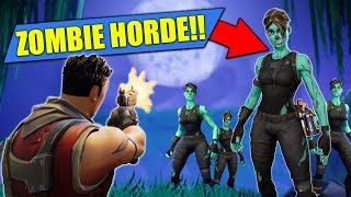 Download *NEW* ZOMBIE HORDE Custom Game In Fortnite Battle Royale! Video
