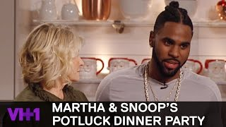 Download Jason Derulo Helps Martha Stewart Make French Dessert | Martha & Snoop's Potluck Dinner Party Video