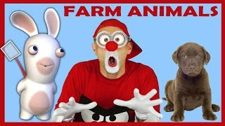 Download Farm Animals For Kids - Educational Lego Fun Learning Video with Clown Bom Video