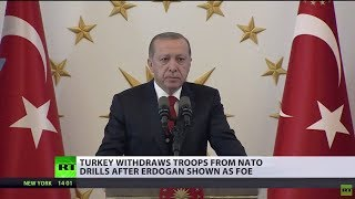 Download Turkey withdraws troops from Norway after Erdogan is listed as 'enemy' during NATO drills Video