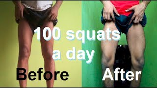 Download 100 SQUAT A DAY FOR 30 DAYS CHALLENGE - [MY LEGS TRASFORMATION RESULTS] Video