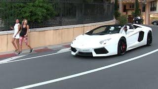 Download Lamborghini Aventador Roadster w/ iPE exhaust in Monaco | LOUD sound + Revs + Chickmagnet Video