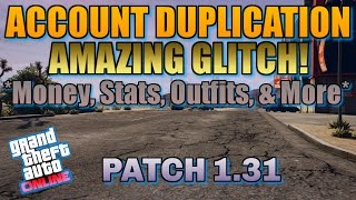 Download GTA 5 Online: ACCOUNT DUPLICATION GLITCH! [1.31] (Money, Stats, Outfits, & More) ″PS4″ #GlitchSquad Video