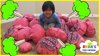 Download GIANT WHOOPEE CUSHION FART Challenge! Toys For Kids! Family Fun Children Activities Ryan ToysReview Video
