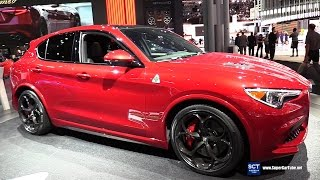 Download 2018 Alfa Romeo Stelvio Quadrifoglio - Exterior Interior Walkaround - Debut 2017 New York Auto Show Video