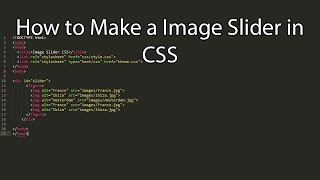 Download How to create a Image Slider in CSS Video