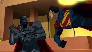 Download Four Superman's Fight at Lexcorp | Reign of the Supermen Video