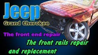 Download Jeep Grand Cherokee. The front end repair. Ремонт переда. Video