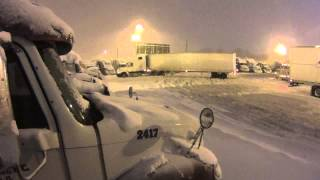 Download 537 truckers worst nightmare a blizzard. Video