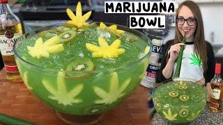 Download Marijuana Jungle Juice Bowl with Banana Leaf Straws - Tipsy Bartender Video