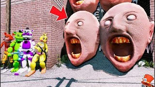 Download CAN THE ANIMATRONICS DEFEAT THE GIANT GRANNY HEAD ARMY? (GTA 5 Mods Kids FNAF RedHatter) Video