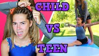 Download Child You VS Teen You: GYMNASTICS! Video