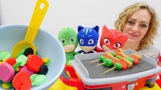 Download PJ Maskeliler mangal partisi yapıyorlar! Hamur oyunları. Video
