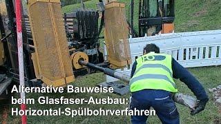 Download Glasfaser-Ausbau: Horizontal-Spülbohrverfahren als alternative Bauweise Video