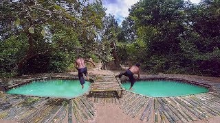 Download Primitive Technology Building Bamboo Underground Swimming Pool Video