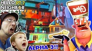 Download GOODBYE HELLO NEIGHBOR!! HORRIBLE Alpha 3 UPDATE? GLUE SMASHING + KEY Gameplay! (FGTEEV Part 7) Video