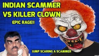 Download Indian Scammer VS Killer Clown [SCARING a SCAMMER] Video