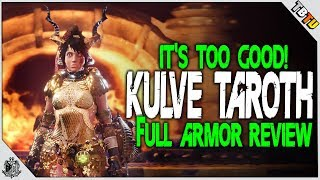 Download ✔️ KULVE TAROTH ARMOR REVIEW! THE BEST ARMOR IN MHW! Monster Hunter World DLC Video