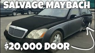 Download Want to Rebuild a Salvage Maybach? One door will cost you $20,000! Video