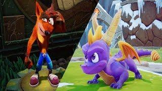 Download Spyro Reignited Trilogy VS Crash Bandicoot N. Sane Trilogy Video
