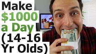 Download How To Make $1000 a Day On YouTube (As A Lazy 14-16 Year Old) Video