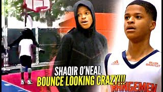 Download Shaqir O'Neal CRAZY Windmill OVER 6'6″ Person w/ Bronny Watching!! BOUNCE looking CRAZY!! Video