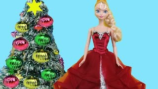 Download Christmas Tree Decorating! Elsa and Anna toddlers make Wish Lists for Santa, sing Carols & have fun Video