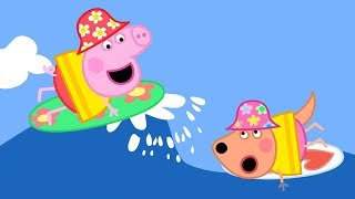 Download Peppa Pig English Episodes | Surfing 🏄 | Peppa Pig Official Video