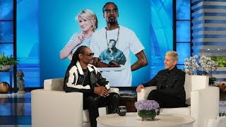 Download Snoop Dogg on Staying at Martha Stewart's House and Teaching Ellen a New Word Video