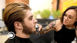Download Suave Haircut for Greg Berzinsky's Son by Andy | The Philadelphia Barber Co. Video