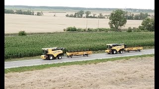 Download New Holland CR10.90 Revelation a CX8.85 verze 40 km/h | Transport to Slovakia | Přejezd na Slovensko Video