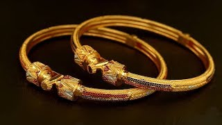Download Solid Gold Bangles With Stone Work Details 2019 | Indian Jewellery Design 2019 Video