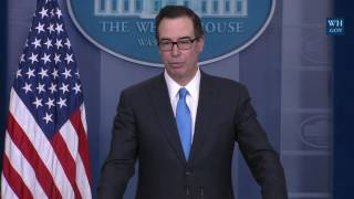 Download Steven Mnuchin GRILLED with Questions at Sean Spicer Press Secretary Press Briefing Conference Video