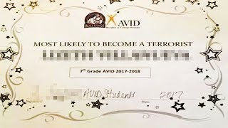 Download Terrorist Award Given To Middle-Schooler Video