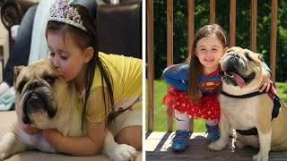 Download Little Girl And Dog Are Best Of Friends Video