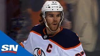 Download Connor McDavid Uses Defender As Screen, Fires Wrist Shot Past Jacob Markstrom Video