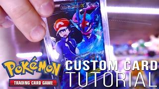 Download How to Make a CUSTOM Pokemon Card!! + FULL ART Ash-Greninja EX Video