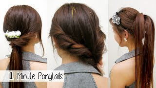 Download 1 Minute Ponytails (TIMED) l Quick Cute & Easy School Hairstyles Video