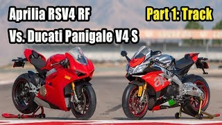 Download 2018 Aprilia RSV4 RF Vs. Ducati Panigale V4 S – Part 1: Track Video