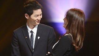 Download Song Joong Ki & Song Hye Kyo Sweet Moments HD VID @ Korea Popular Culture & Arts Awards Video